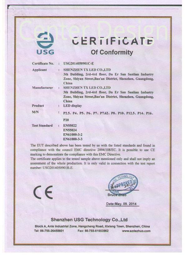 Ürünlerimize ait sertifikalarımız