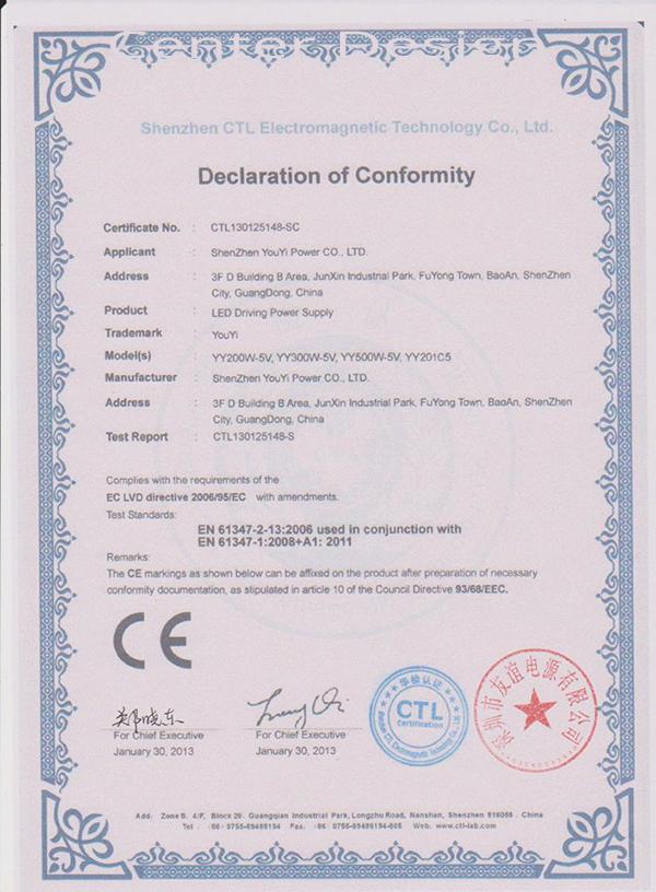 Ürünlerimize ait sertifikalarımızın görüntüsü