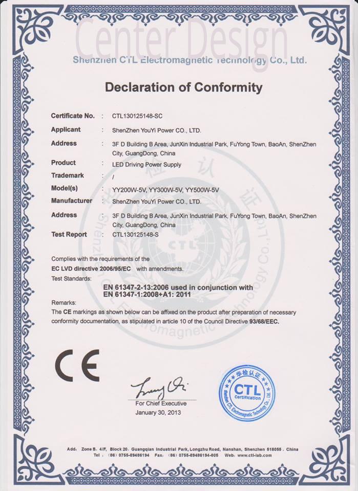 İthal ürünlerimizin sertifikası