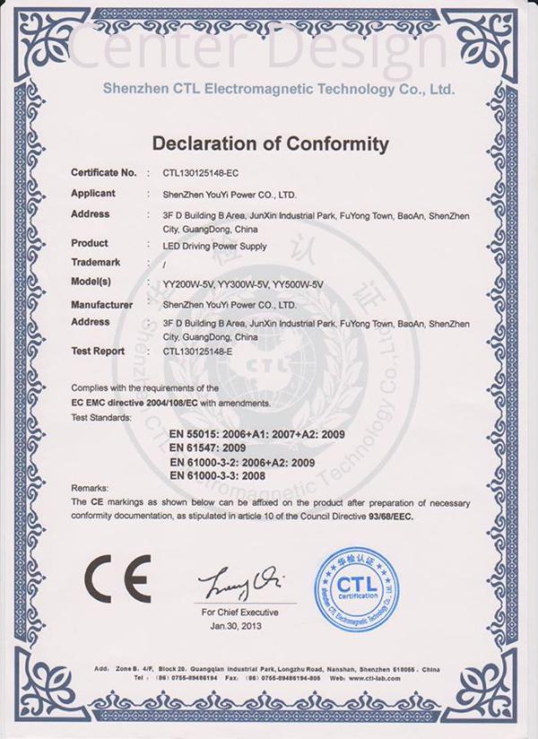 Ürünlerimize ait sertifika görüntüsü